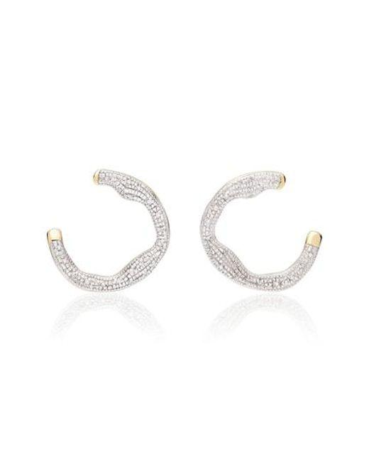 Monica Vinader - Metallic Riva Diamond Circle Wrap Earrings - Lyst