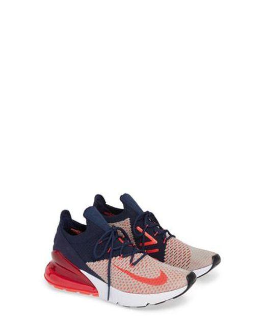 06642b9f29ab Lyst Nike Air Max 270 Flyknit Sneaker In Green