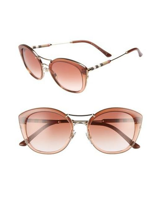 Burberry - Brown 53mm Gradient Sunglasses - Lyst
