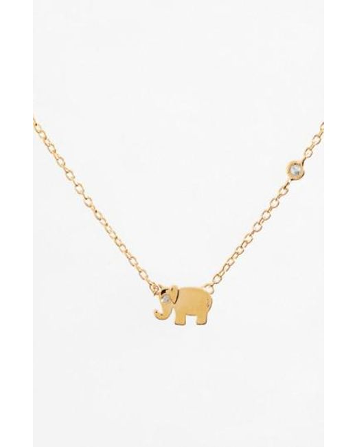 Shy By Sydney Evan | Metallic Shy By Sydney Evan Elephant Necklace | Lyst