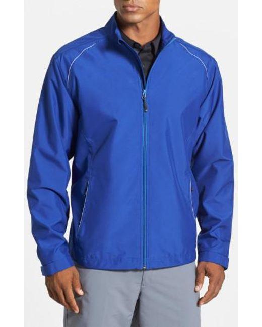 Cutter & Buck - Blue 'beacon' Weathertec Wind & Water Resistant Jacket for Men - Lyst