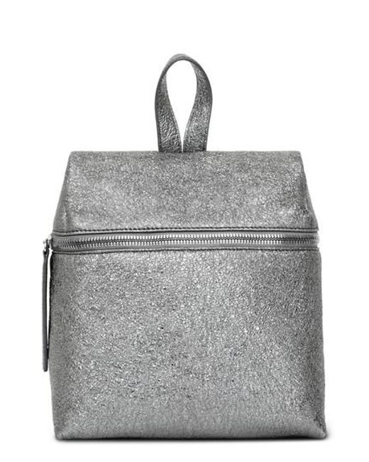 Kara - Small Crinkled Metallic Leather Backpack - - Lyst