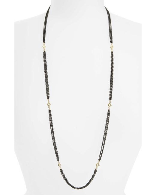 Armenta - Metallic Old World Beaded Station Necklace - Lyst