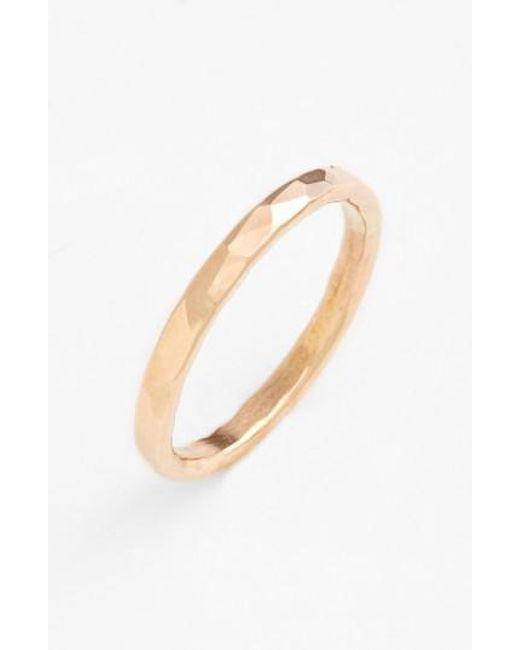 Nashelle   Metallic Ija Hammered Ring   Lyst
