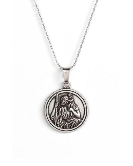 Lyst alex and ani saint christopher pendant necklace in metallic alex and ani metallic saint christopher pendant necklace lyst aloadofball Image collections