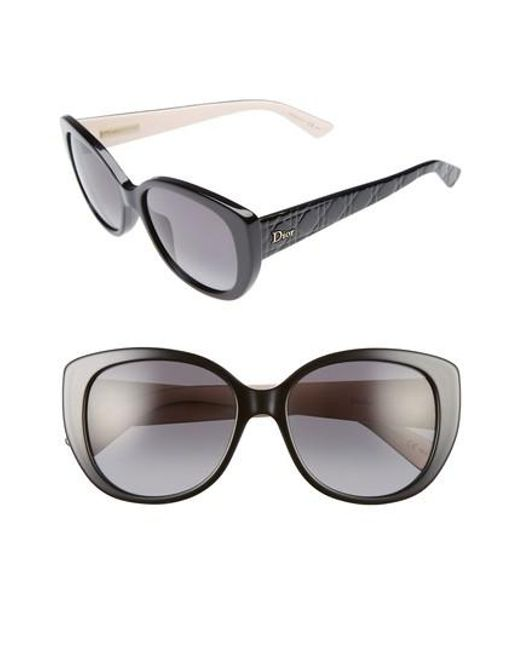 Dior | Black Lady 55mm Cat Eye Sunglasses | Lyst