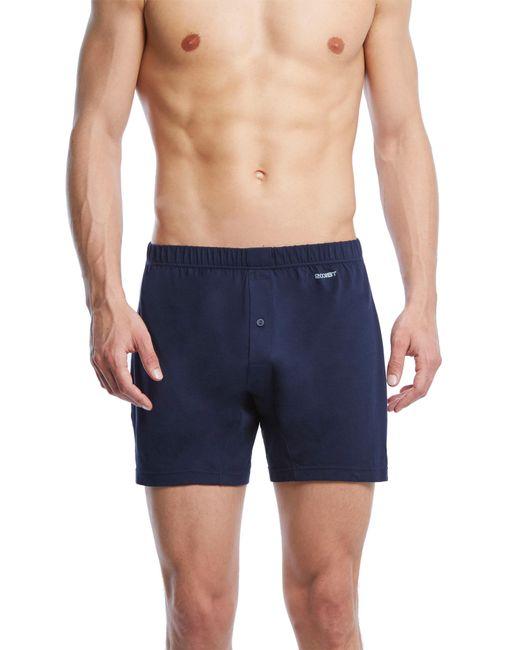 2xist - Blue Pima Cotton Knit Boxers for Men - Lyst