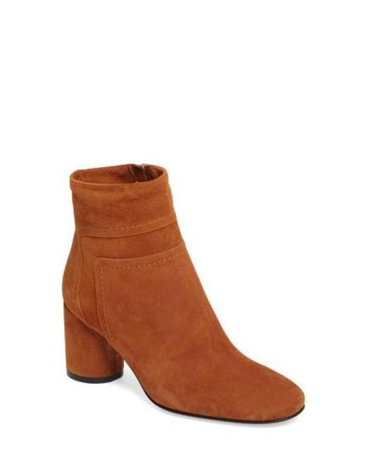 Taryn Rose - Brown Fortuna Block Heel Bootie - Lyst