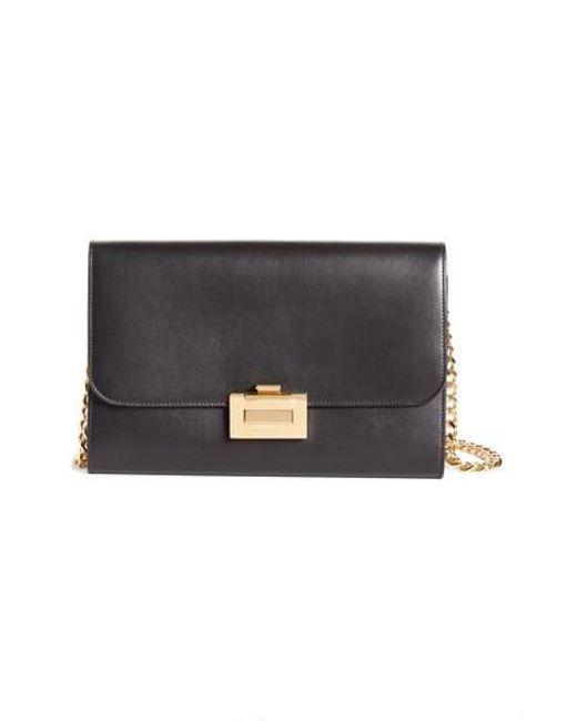 Wallet on Chain in Black Calf Leather Victoria Beckham 8lpFUWILc