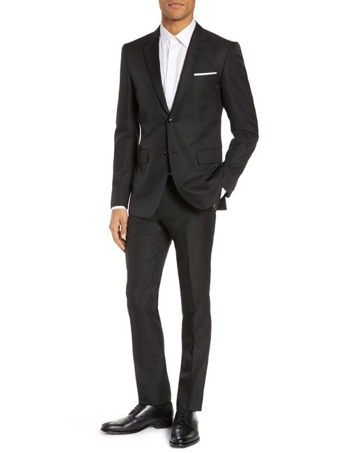 Tiger Of Sweden - Black Slim Fit Solid Wool Suit for Men - Lyst