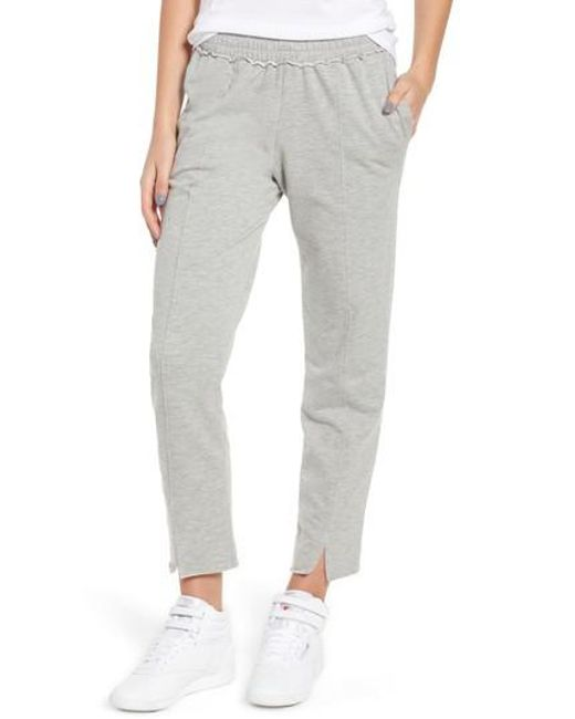 Project Social T - Gray Lowsen Split Hem Sweatpants - Lyst