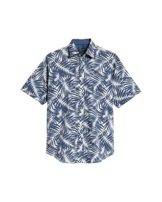 Bugatchi - Blue Indigo Palms Classic Fit Sport Shirt for Men - Lyst