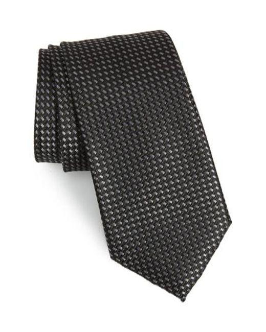 Nordstrom - Black Stella Solid Silk Tie for Men - Lyst