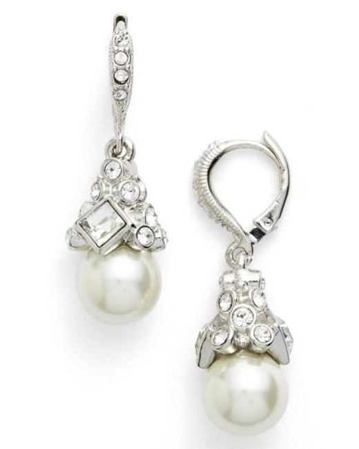 Givenchy | Metallic Imitation Pearl Drop Earrings | Lyst