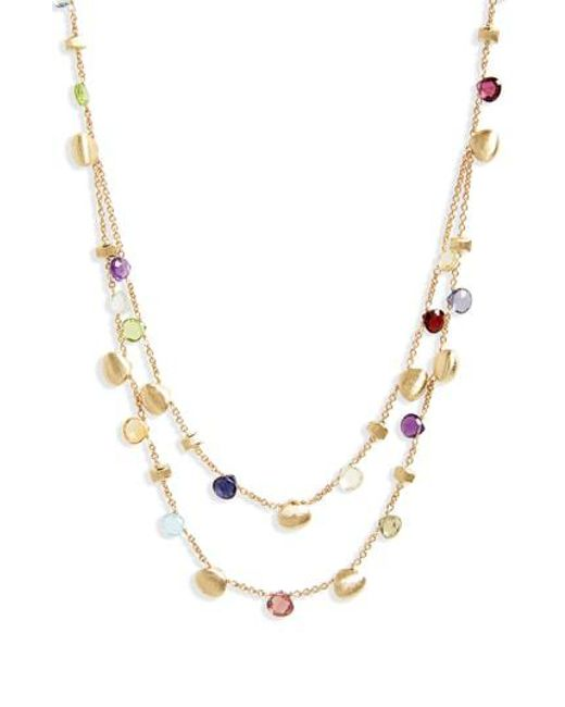 Marco Bicego - Metallic Paradise Semiprecious Stone Double Strand Necklace - Lyst