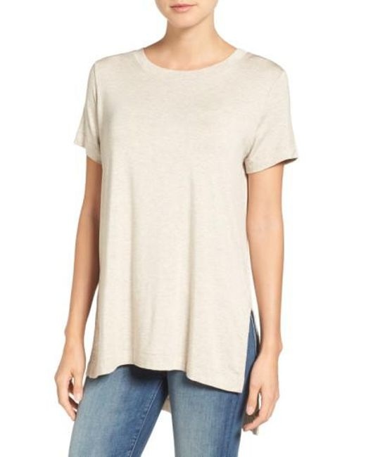 Amour Vert | Natural Paola High/low Tee | Lyst