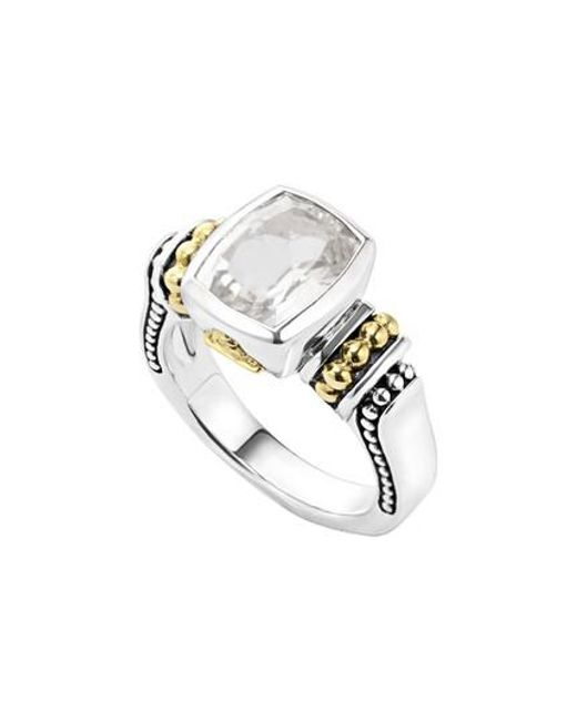 Lagos - Metallic 'caviar Color' Small Semiprecious Stone Ring - Lyst