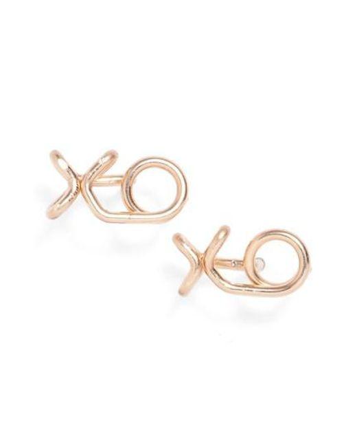 Nashelle | Metallic Xo Stud Earrings | Lyst
