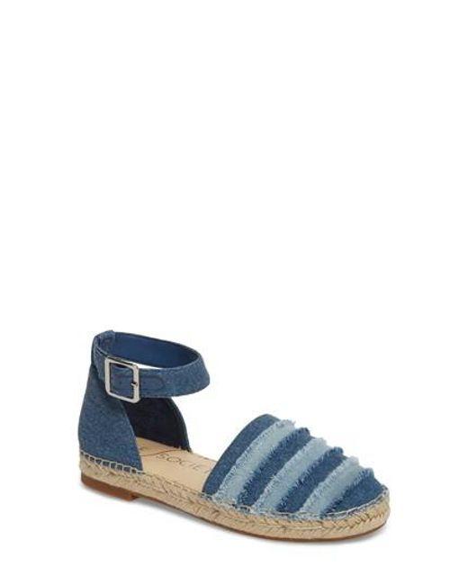 Sole Society - Blue Stacie Espadrille Sandal - Lyst