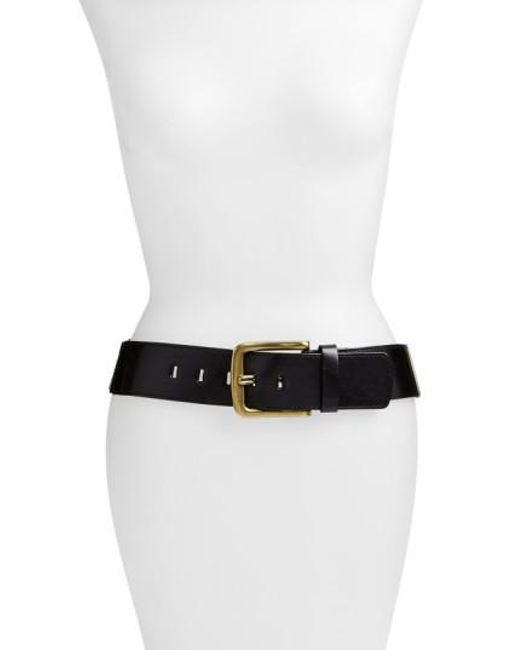 Elise M - Black 'sheila' Leather Belt - Lyst