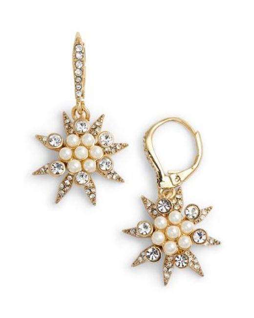 Jenny Packham   Metallic Star Cluster Drop Earrings   Lyst