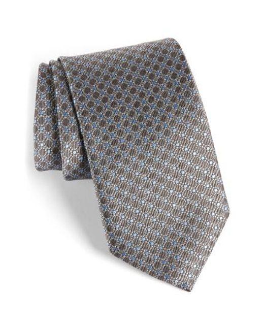 David Donahue | Gray Neat Silk Tie for Men | Lyst
