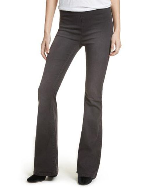 Free People - Multicolor We The Free By Gummy Pull-on Flare Leg Jeans - Lyst