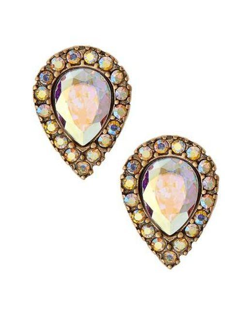 Loren Hope | Metallic Teardrop Stud Earrings | Lyst