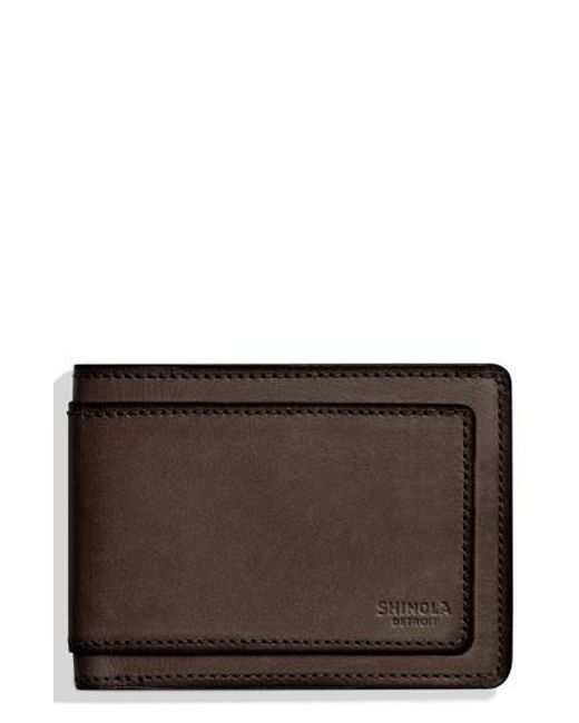 Shinola - Brown Outlaw Wallet for Men - Lyst