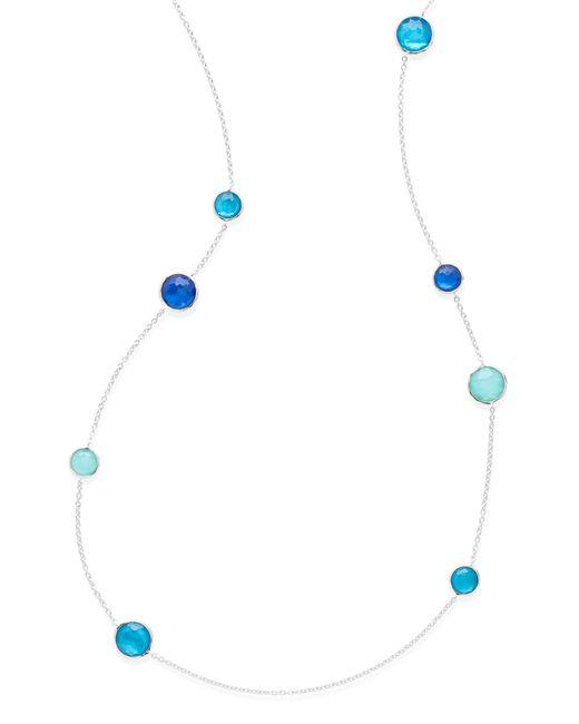 Ippolita - Blue Wonderland Station Necklace - Lyst