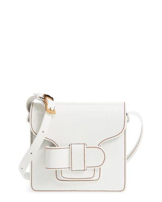 Trademark - White Greta Leather Crossbody Bag - Lyst