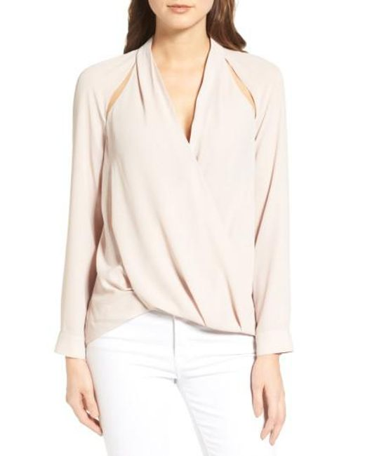 Trouvé | Natural Cutout Surplice Top | Lyst