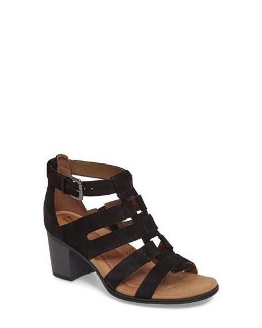 Cobb Hill - Black Hattie Block Heel Gladiator Sandal - Lyst