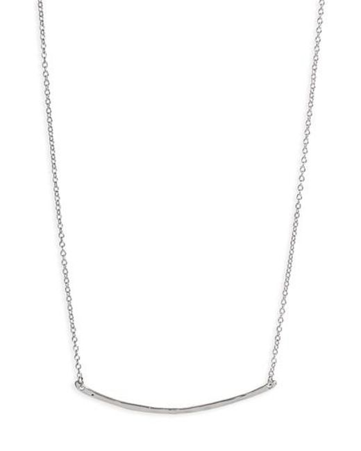 Gorjana | Metallic 'taner' Small Bar Pendant Necklace | Lyst