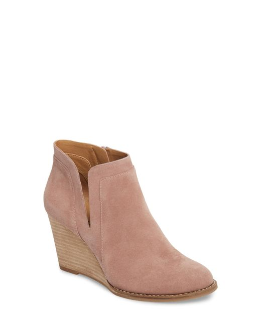 Lucky Brand - Brown Yabba Wedge Bootie - Lyst