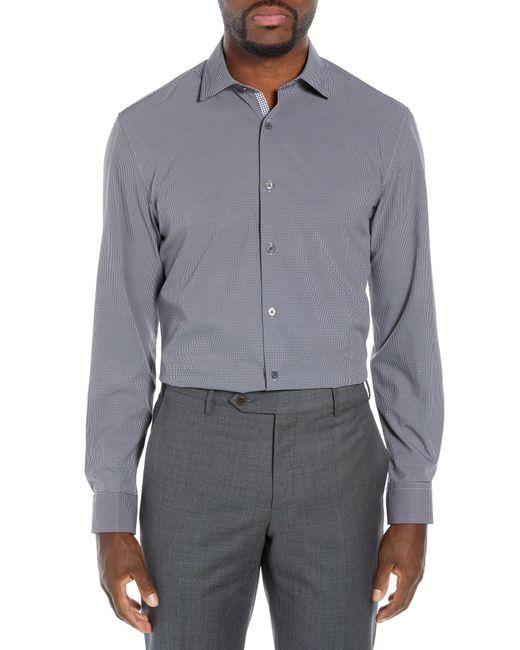 W.r.k. - Gray Trim Fit 4-way Stretch Houndstooth Dress Shirt for Men - Lyst