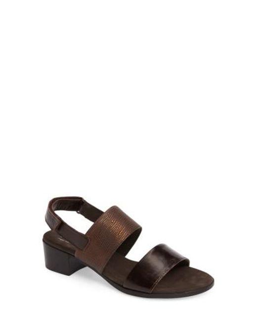 Munro | Brown Kristal Sandal | Lyst