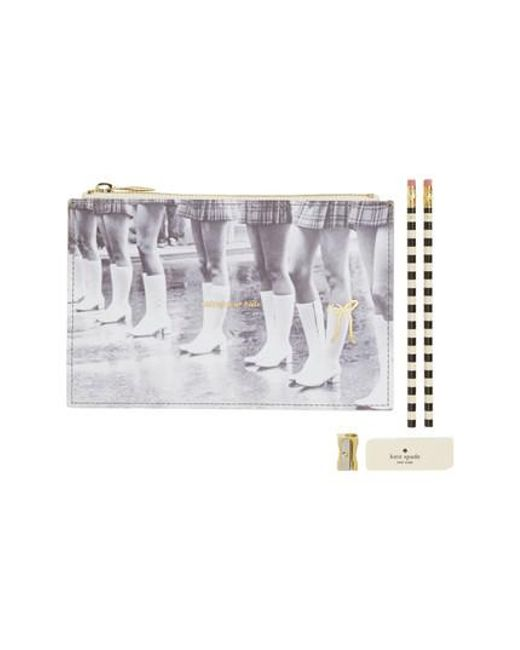 Kate Spade | Multicolor Kick Up Your Heels Pencil Pouch | Lyst