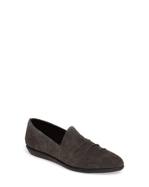 The Flexx | Black Draped Wedge Slip-on | Lyst