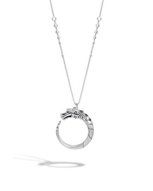 John Hardy Naga Choker Necklace With Black Sapphire, Black Spinel