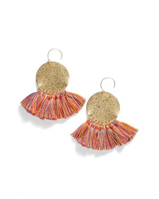 Serefina | Metallic Lunar Tassel Earrings | Lyst