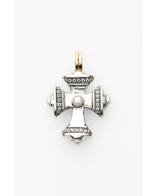 Konstantino - Metallic 'kassandra' Small Maltese Cross Pendant - Lyst