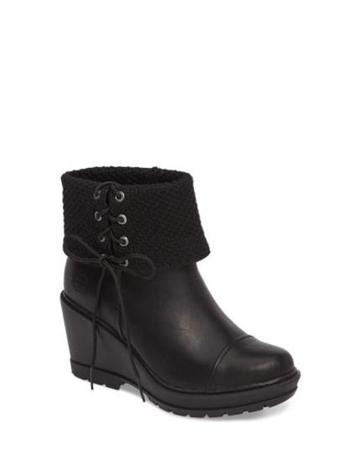 Timberland | Black Kellis Fold Down Water Resistant Boot | Lyst
