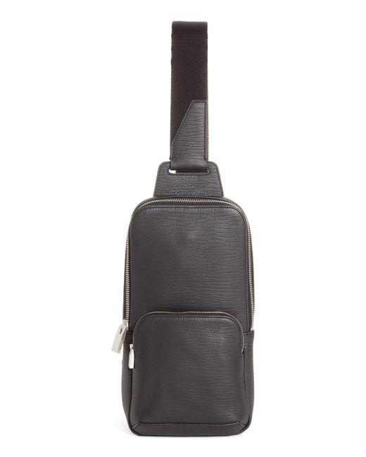 1017 ALYX 9SM Black Leather & Nylon Crossbody Bag for men