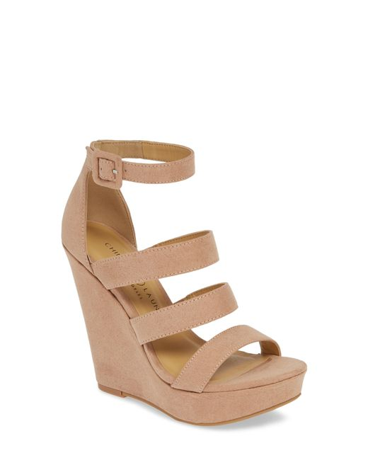 5bb8dea9278 Lyst - Chinese Laundry Maneeya Wedge Sandal in Natural