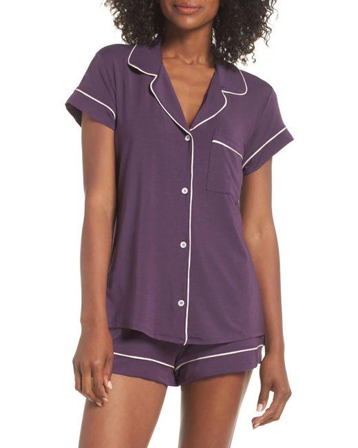 Eberjey - Purple 'gisele' Shorty Pajamas - Lyst