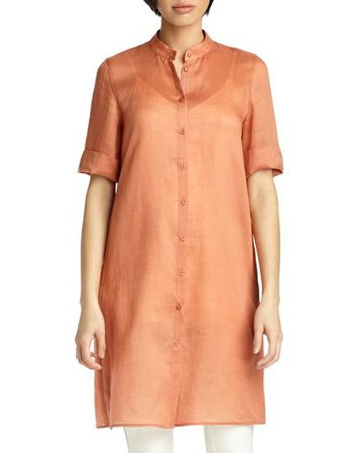 Lafayette 148 New York - Orange Randi Gemma Cloth Tunic - Lyst