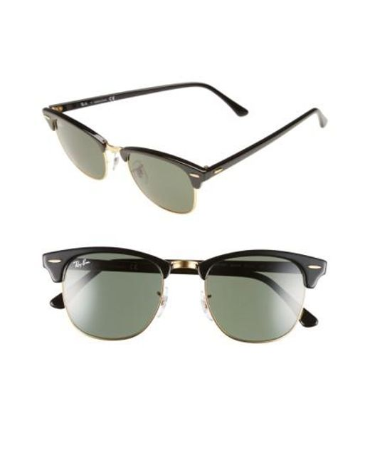 Ray-Ban | Green 'classic Clubmaster' 51mm Sunglasses for Men | Lyst