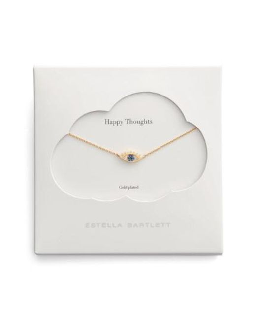 Estella Bartlett   Metallic Happy Thoughts Eye Pendant Necklace   Lyst
