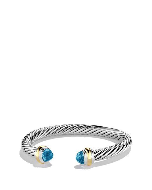 David Yurman - Metallic Cable Classics Bracelet With Semiprecious Stones & 14k Gold - Lyst